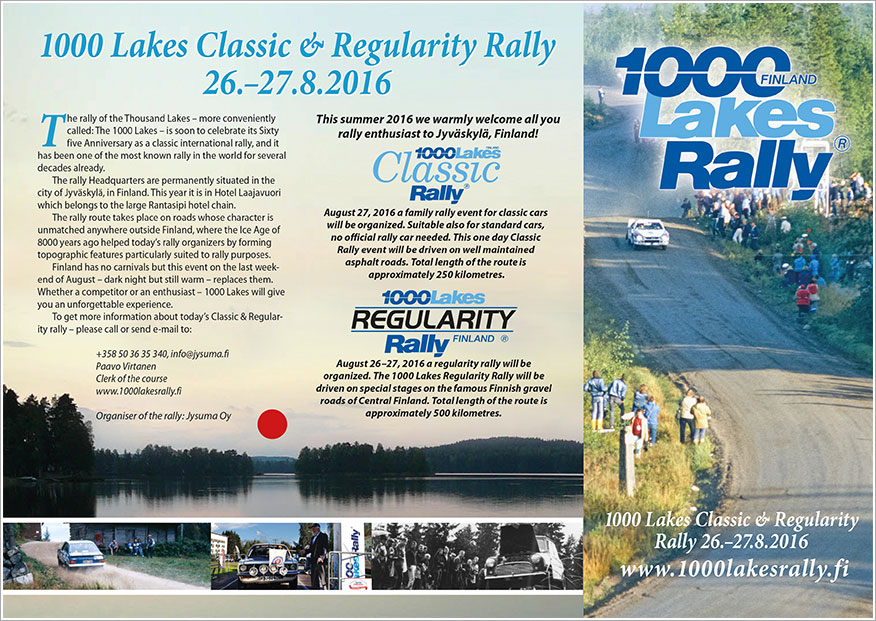 Click and view 1000 lakes Classic & Regularity Rally Brochure
